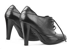 Black female shoes Royalty Free Stock Photo