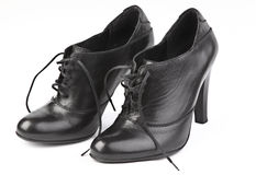 Black female shoes Stock Photography