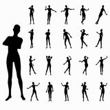 Black female silhouettes in movement Stock Photography