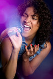 Black Female Singer Royalty Free Stock Image