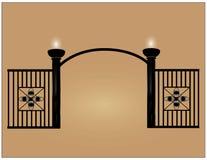 Black fence Royalty Free Stock Photo