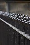 Black fence Stock Image