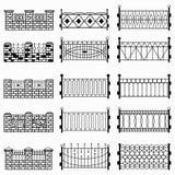 Black fence  symbols Stock Photography