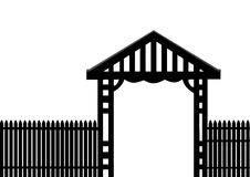 Black fence white background Stock Photo