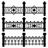 Black fences collection of symbols Stock Photos