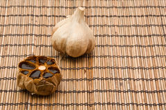 Black fermented garlic Royalty Free Stock Photography