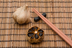 Black fermented garlic Stock Photo