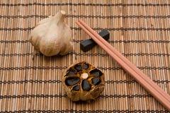 Black fermented garlic Stock Photo