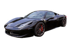 Black Ferrari On White royalty free stock photos