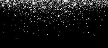 Festive silver luminous background. Black festive silver luminous background. Vector illustration Stock Photo