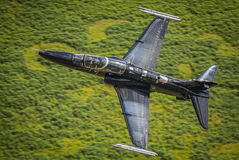 Black fighter jet T2 Hawk Royalty Free Stock Image