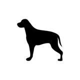 Black figure big dog animal. Illustration Royalty Free Stock Photography