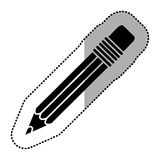 Black figure pencil icon stock. Illustraction design image Stock Photography