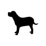 Black figure retriever dog animal. Illustration Royalty Free Stock Images