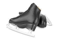 Black figure skates Royalty Free Stock Photo