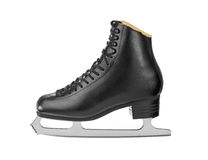 Black figure skates Stock Photo