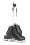 Black figure skates Royalty Free Stock Photos
