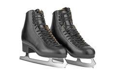 Black figure skates Stock Image