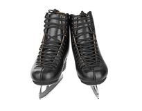 Black figure skates Royalty Free Stock Photography