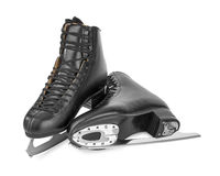Black figure skates. Isolated on white background Royalty Free Stock Image