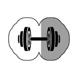 Black figure weight gym tool icon. Illustration image Royalty Free Stock Photos