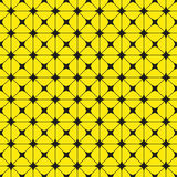 Black figures on a yellow background. Abstract composition. Vector illustration. Stock Image