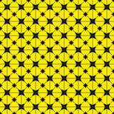 Black figures on a yellow background. Abstract composition. Vector illustration. Stock Photos