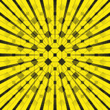 Black figures on a yellow background. Abstract composition. Vector illustration. Royalty Free Stock Images