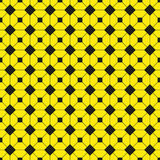 Black figures on a yellow background. Abstract composition. Vector illustration. Stock Images