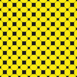 Black figures on a yellow background. Abstract composition. Vector illustration. Royalty Free Stock Photos