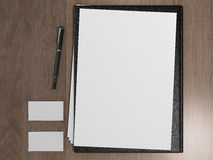 Black file with white blank sheet Stock Photography