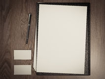 Black file with white blank sheet Royalty Free Stock Image