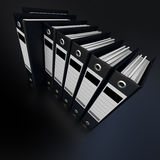 Black files Royalty Free Stock Images