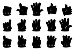 Black Fill Gesture Hands at White background Royalty Free Stock Image