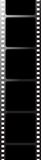 Black film. A single bit of film drawn in illustrator stock illustration