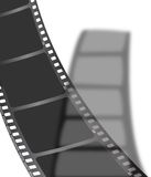 Black film shadow. An image of a piece of film in black with a drop shadow royalty free illustration