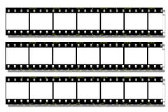 Black Film strip. With film number 1 to 15 Royalty Free Stock Images
