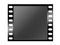 Black film strip. Isolated on white Royalty Free Stock Photos