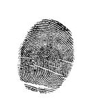 Black Finger Print Royalty Free Stock Photo