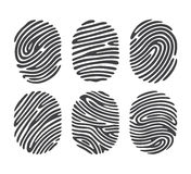 Black finger print set Stock Images