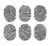 Black finger print set Stock Images