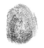 Black finger print on white background Stock Photos