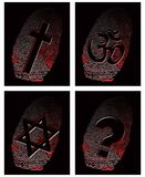 Black fingerprint and official religion Royalty Free Stock Photos
