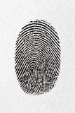 Black fingerprint on a paper. With little texture royalty free stock image