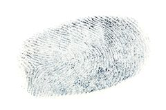 Black fingerprint pattern isolated on white background.  Royalty Free Stock Photo