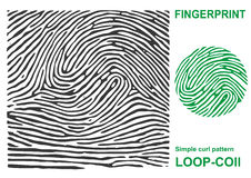 Black fingerprint shape secure. identification ID finger. Royalty Free Stock Photo