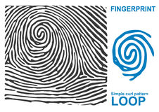 Black fingerprint shape secure. identification ID finger. Stock Photos