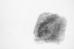 Black Fingerprint Stock Photo
