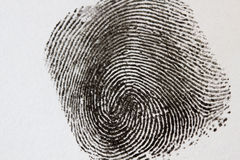 Black Fingerprint Stock Photos