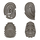 Black Fingerprints Set. Vector Royalty Free Stock Photography